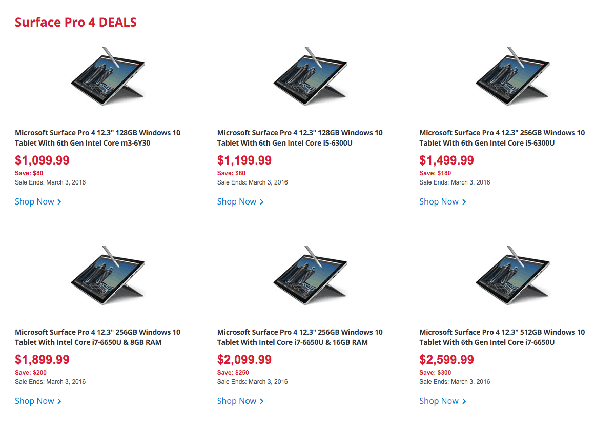 Microsoft Surface Pro 4 Best Buy Canada