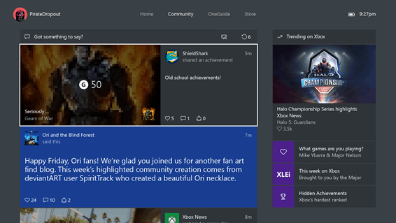 Xbox 360 Achievements will automatically post to your console and Windows 10 PC Activity Feeds.