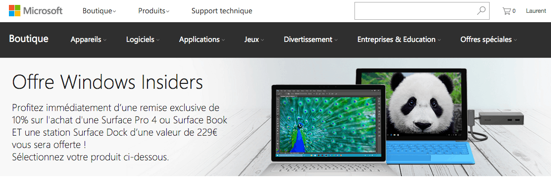 The French Microsoft Store.