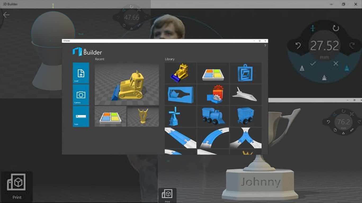 Microsoft 3D Builder Windows 10 app