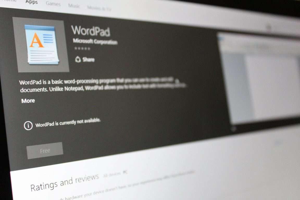 WordPad Project Centennial