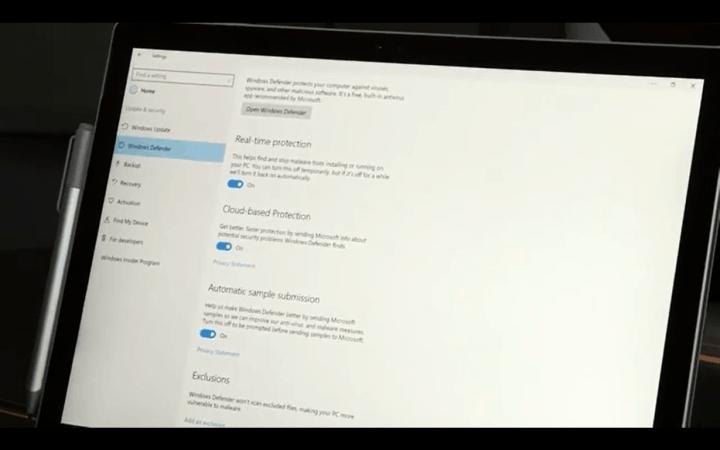 Windows 10 has enhanced security features for enterprises.