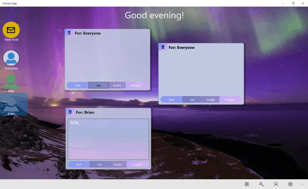 FamilyNotes UI