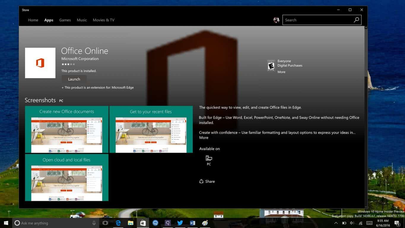 Office Extension in the Windows Store
