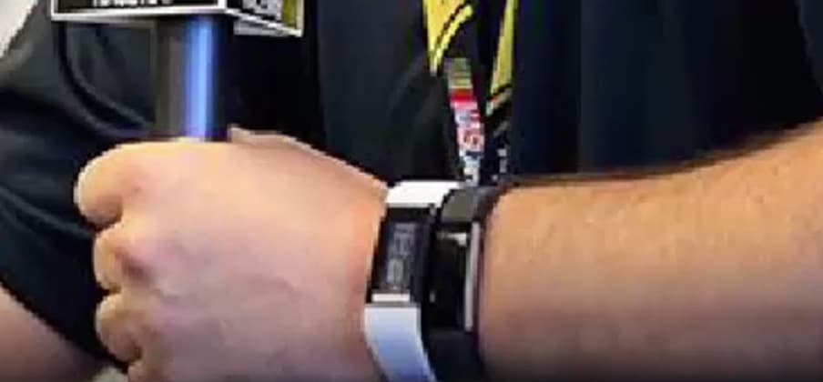 Microsoft's Mike Downey Possibly Wearing a Microsoft Band 3