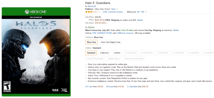 Halo 5 Guardians Amazon