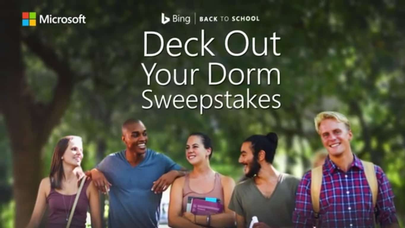 Microsoft Deck Out Your Dorm Sweepstakes Featured