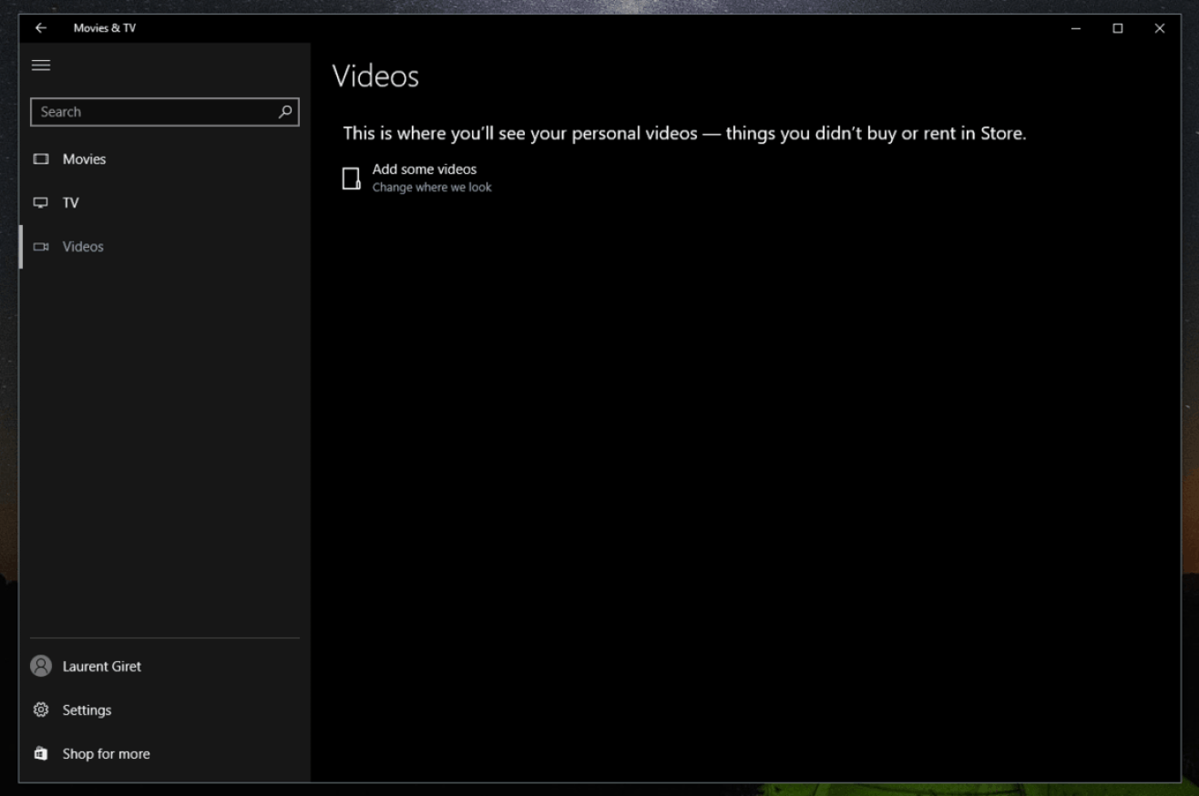 Microsoft, please integrate your Movies & TV app with OneDrive.