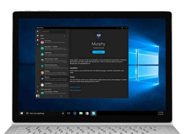 Updated Skype Preview for Windows 10 PCs