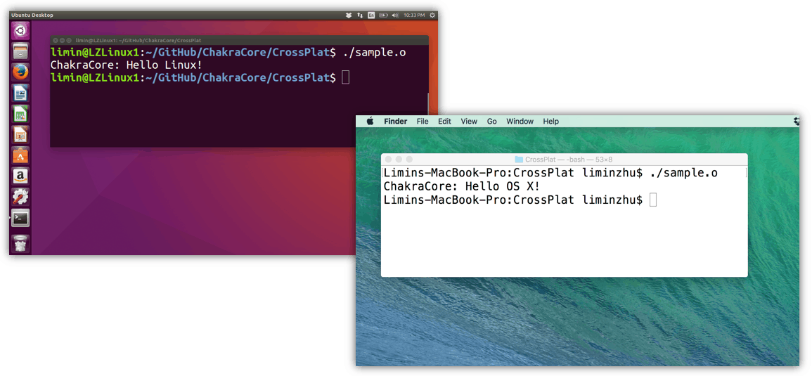 CharkraCore OSX and Linux