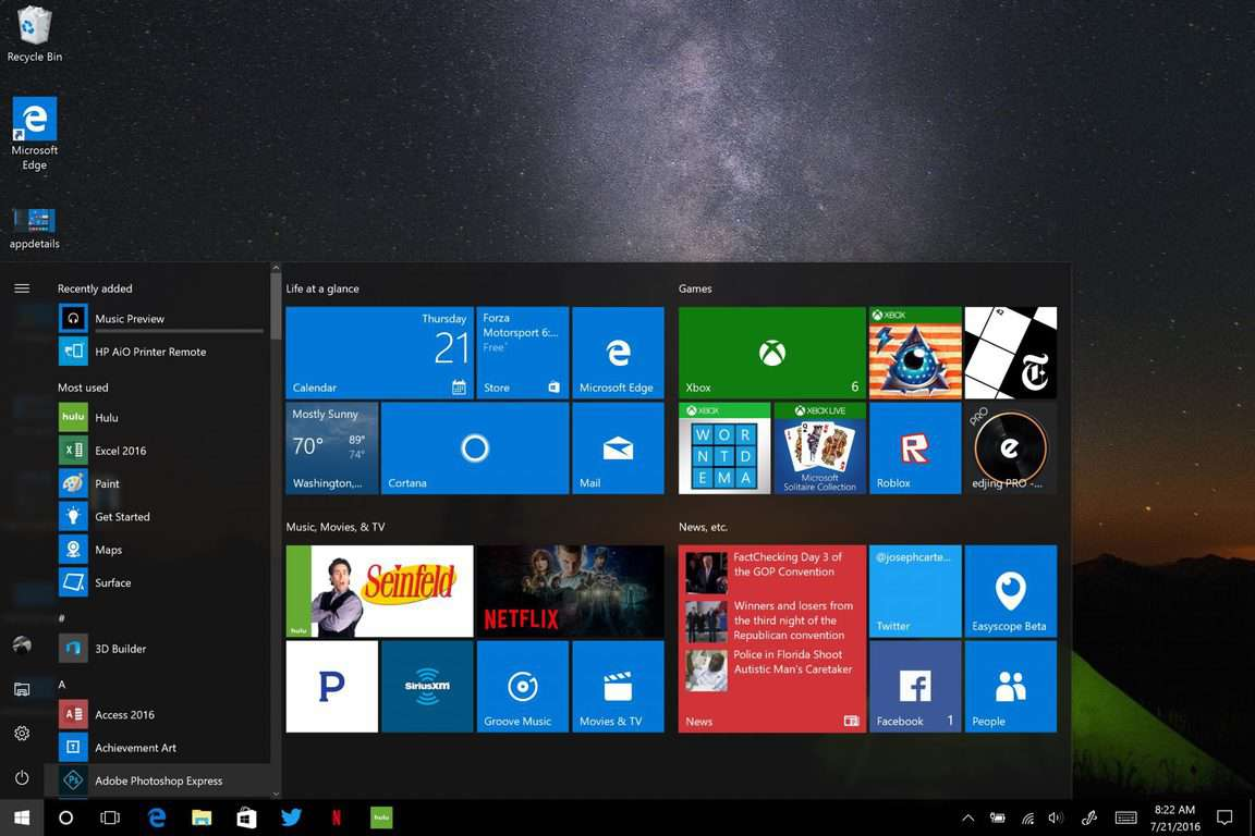 Windows 10, Anniversary Update