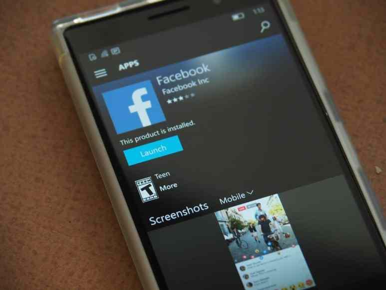Facebook Windows 10 Mobile Featured