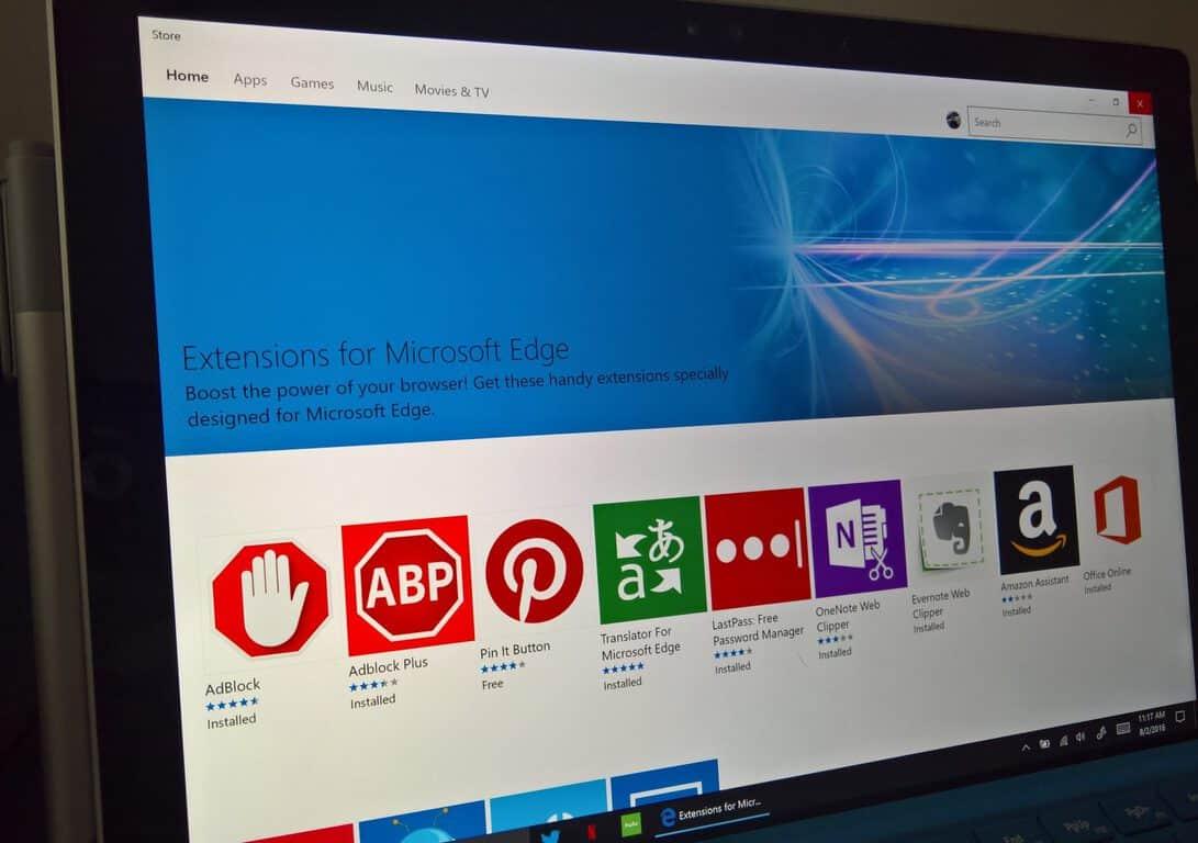 Windows 10 , Edge, extensions, Top 5
