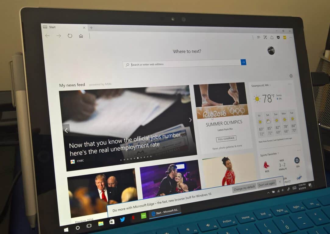 Windows 10, Microsoft, Edge