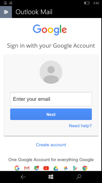 It's once again possible to sync emails, contacts and calendar from a Gmail account on Windows 10 Mobile.