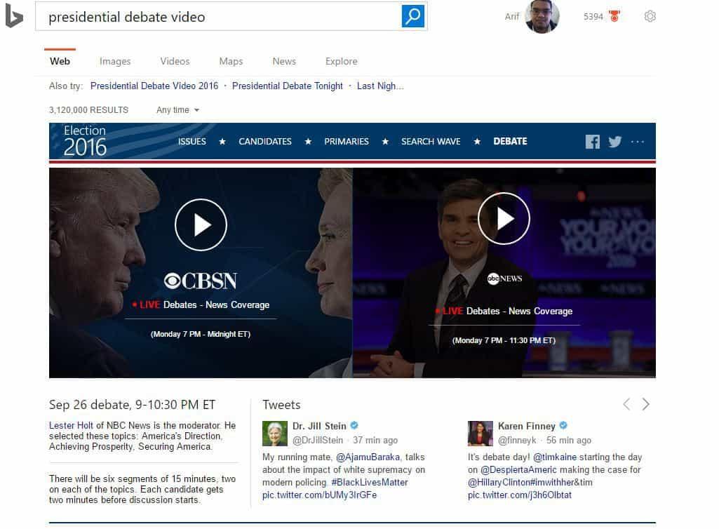 Debates on Bing