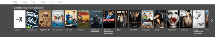 Bing Cancelled TV Shows