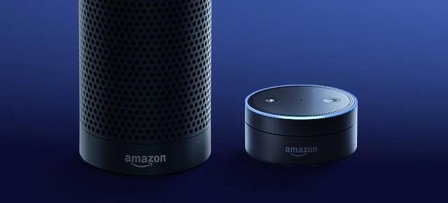 The Alexa-powered Amazon Echo & Echo Dot.