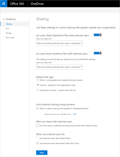 New features for IT to secure and manage OneDrive.