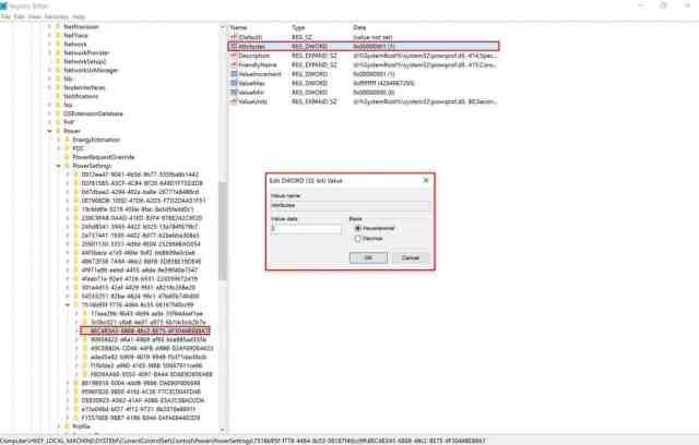 Windows 10, Registry, Attribute