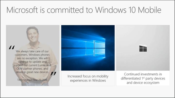 Windows 10 Mobile commitment