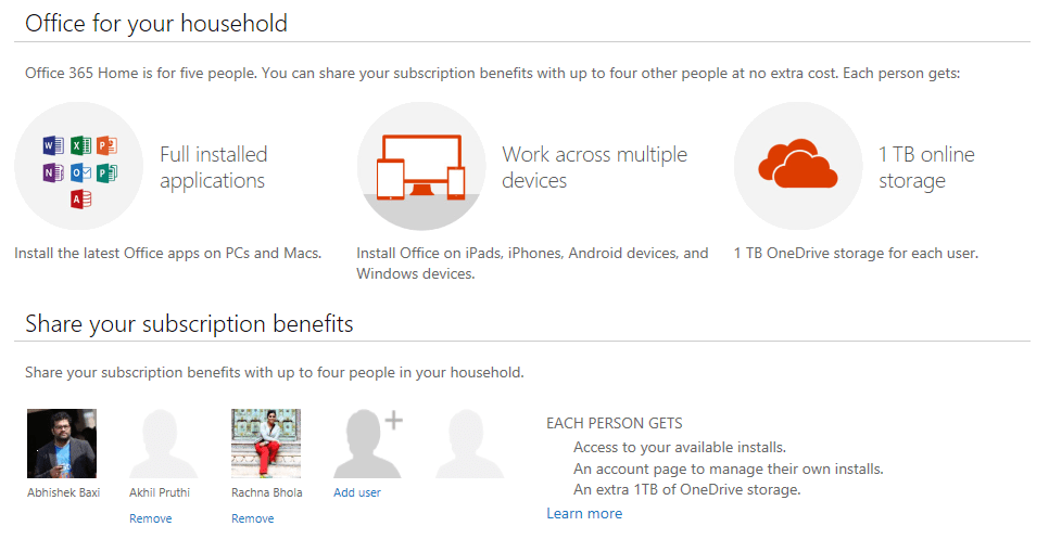 How to share your Office 365 Home subscription with your family ...