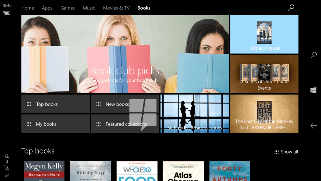 Windows 10 Book Store Creators Update