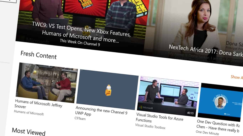 Windows 10 Channel 9 App