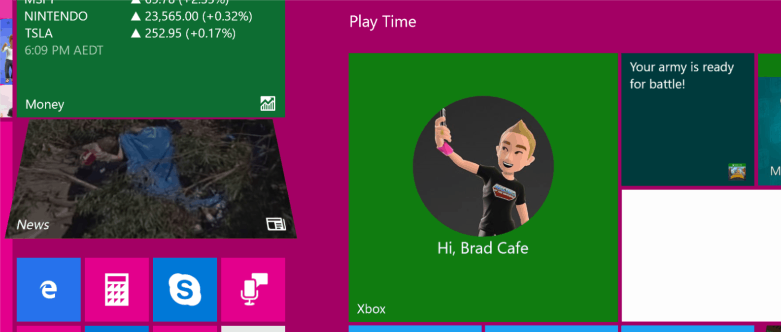 Windows 10's Live Tiles can update with new information and images