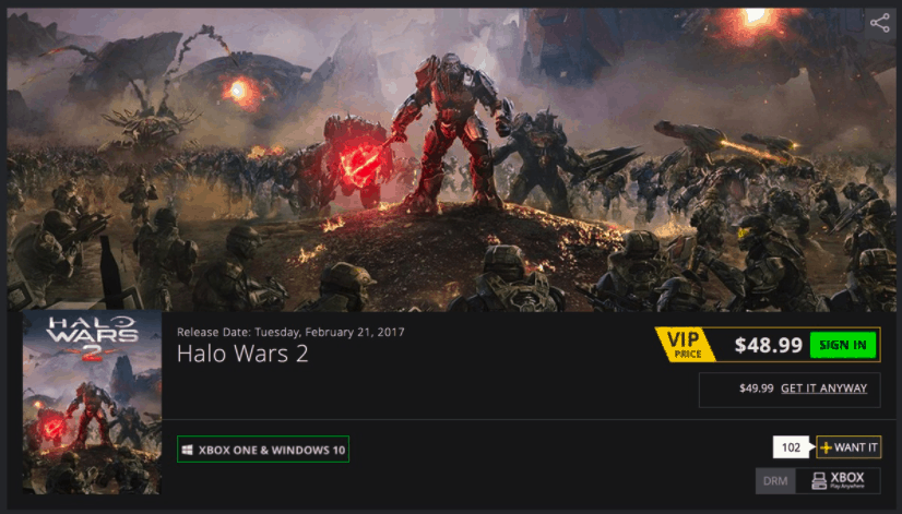 Halo Wars 2 Green Man Gaming