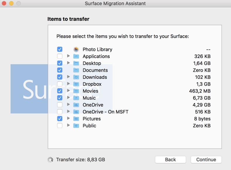 Surface Migration Assistant 1