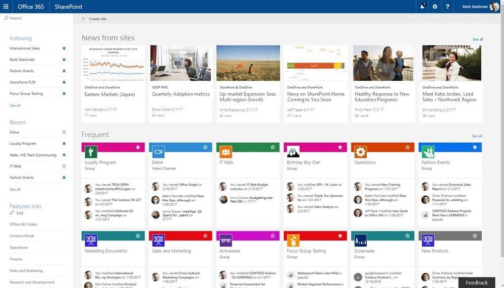 SharePoint, Microsoft