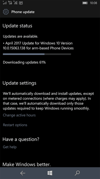 Windows 10 for arm-based Phone Devices