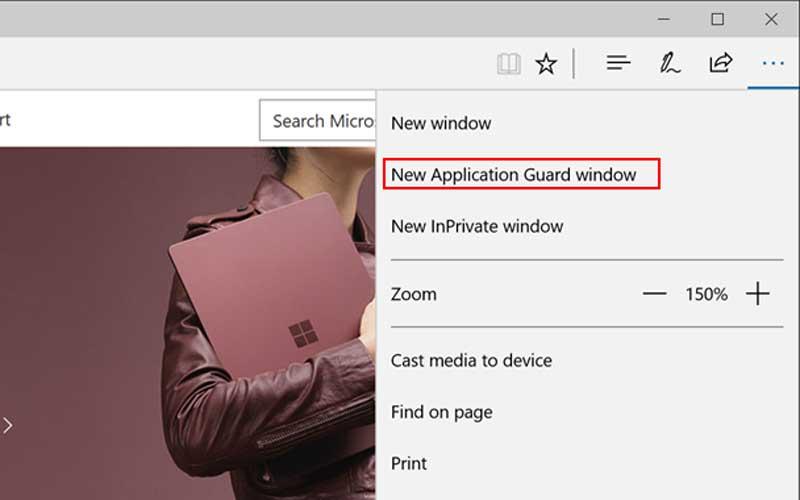Windows Defender Application Guard