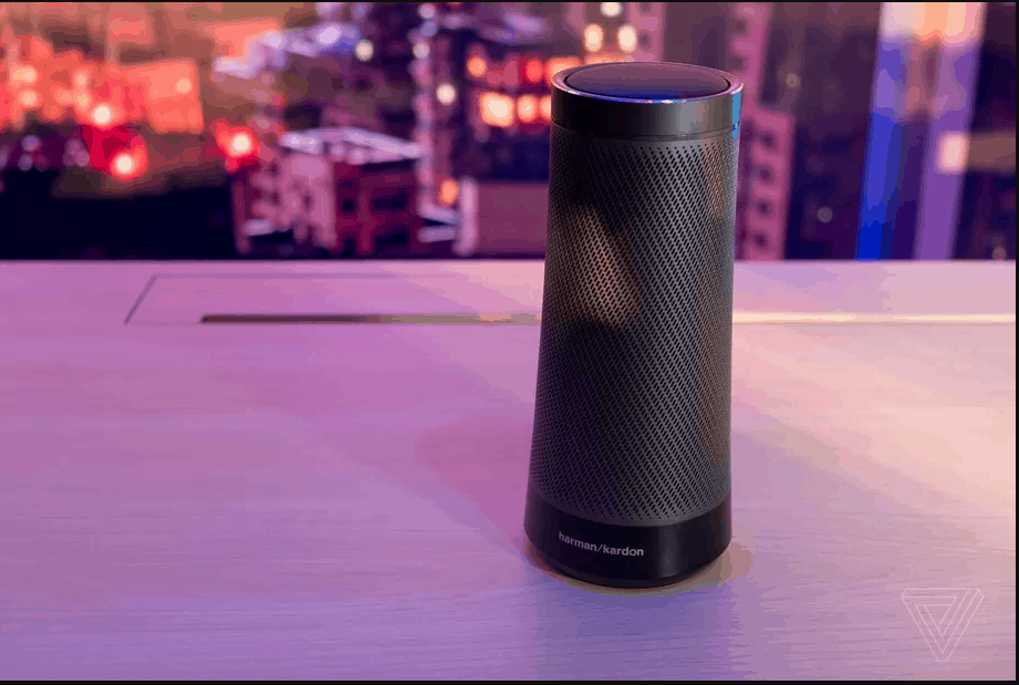 Harman Kardon's Cortana speaker Image from Sam Byford/The Verge
