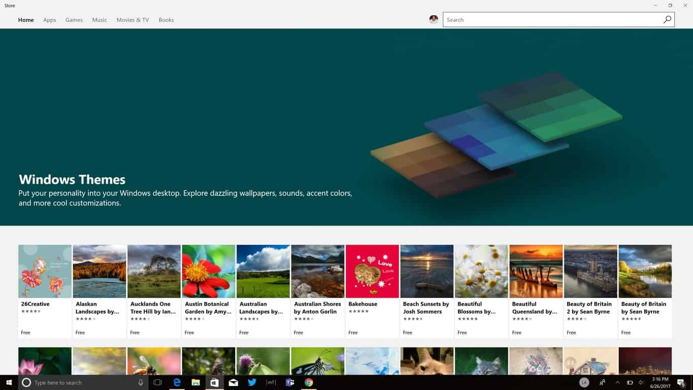 How to install themes from the Windows Store in Windows 10