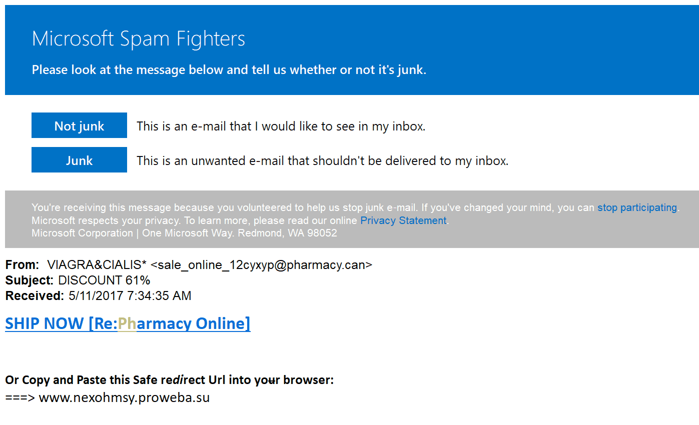 Outlook.com Spam Fighters Program