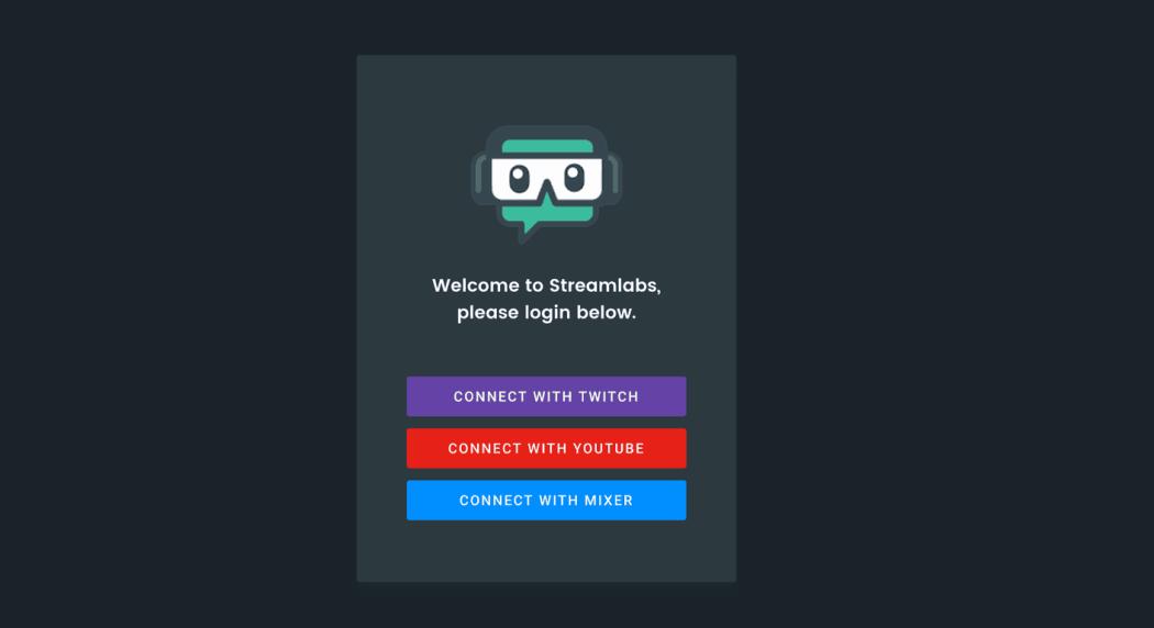 Streamlabs Mixer Login