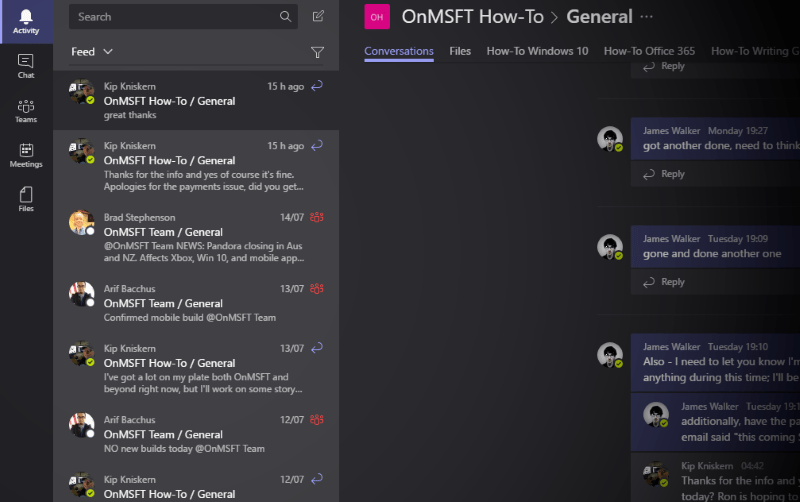 Microsoft Teams screenshot - www.office.com/setup
