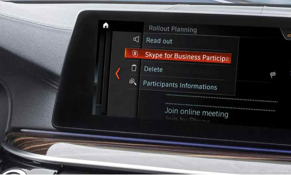 Skype for Business BMW Car