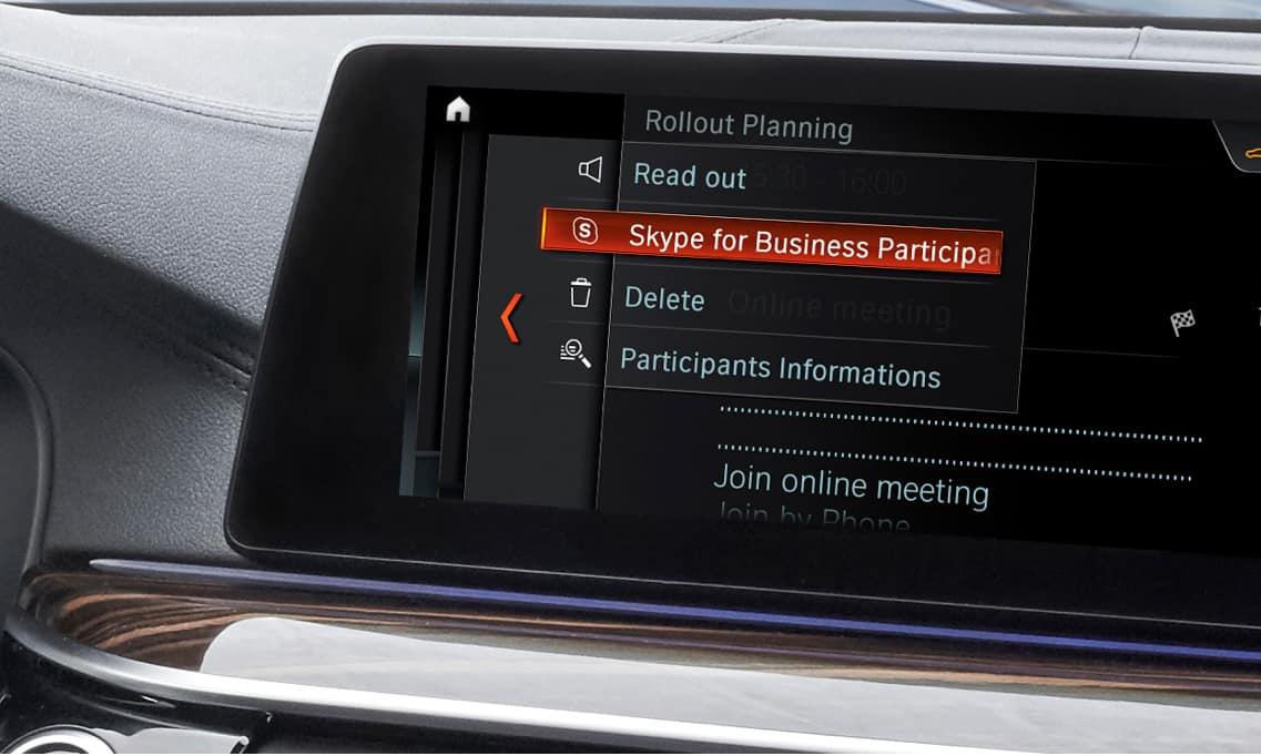 Skype for Business BMW Car
