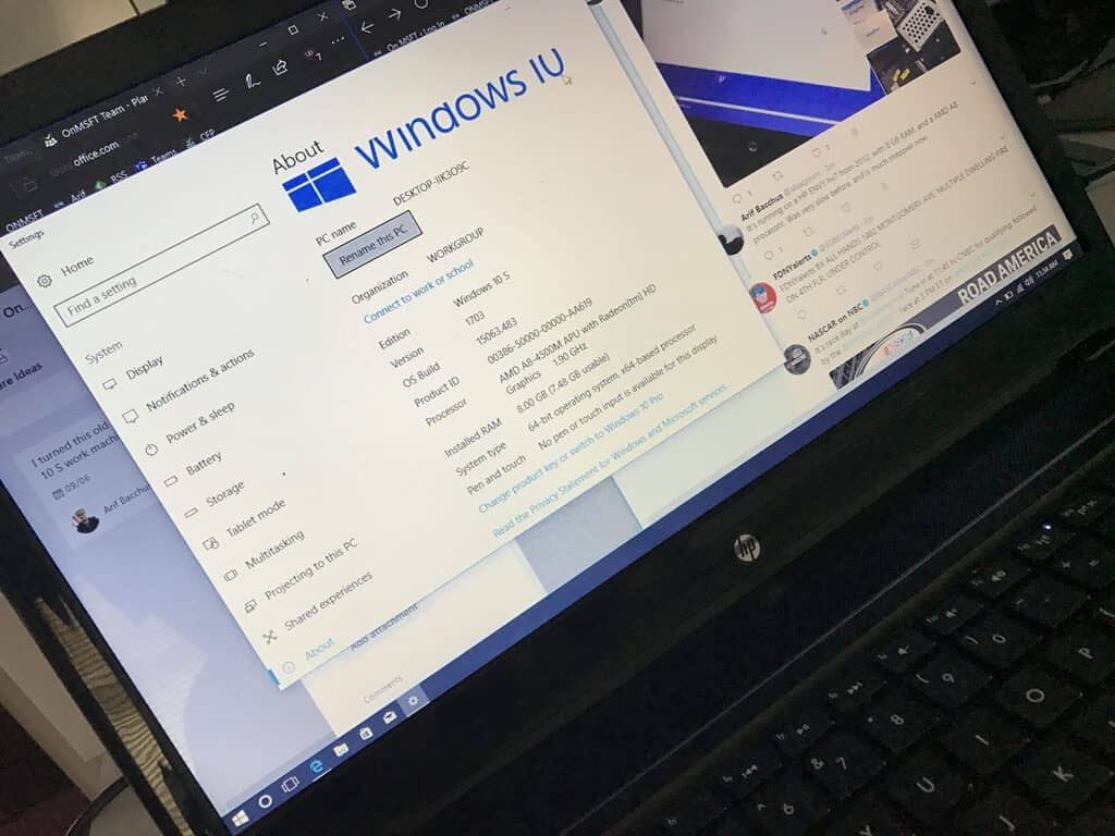 Windows 10 S on HP Laptop