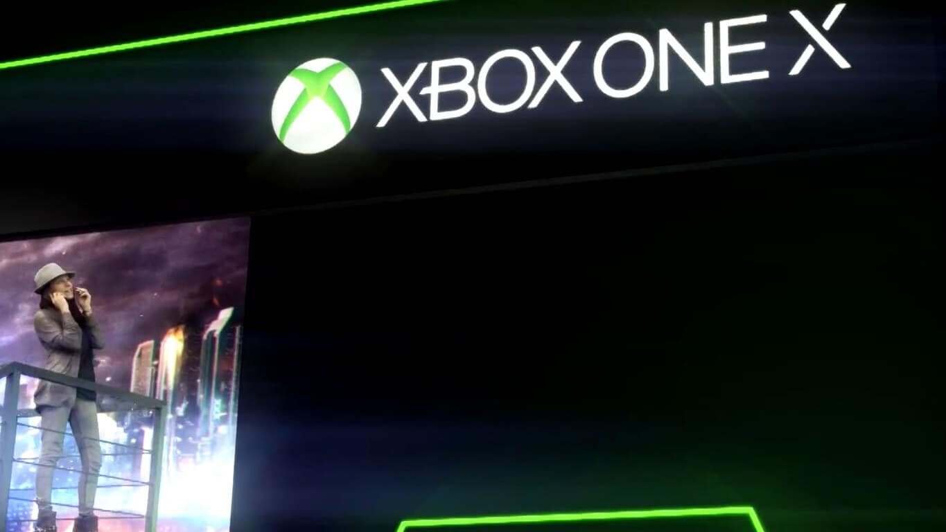 Xbox One X at Gamescom 2017 in Germany