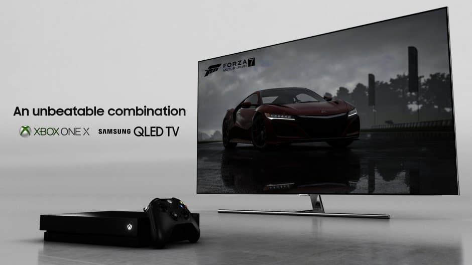 Samsung and its QLED 4K HDR TVs to be official Xbox One X