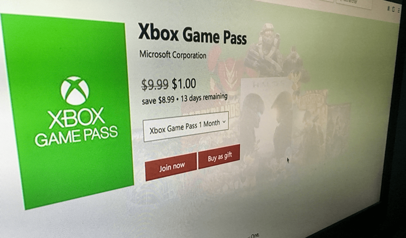 Get Xbox Games Pass Or Xbox Live Gold For Just 1 For Your