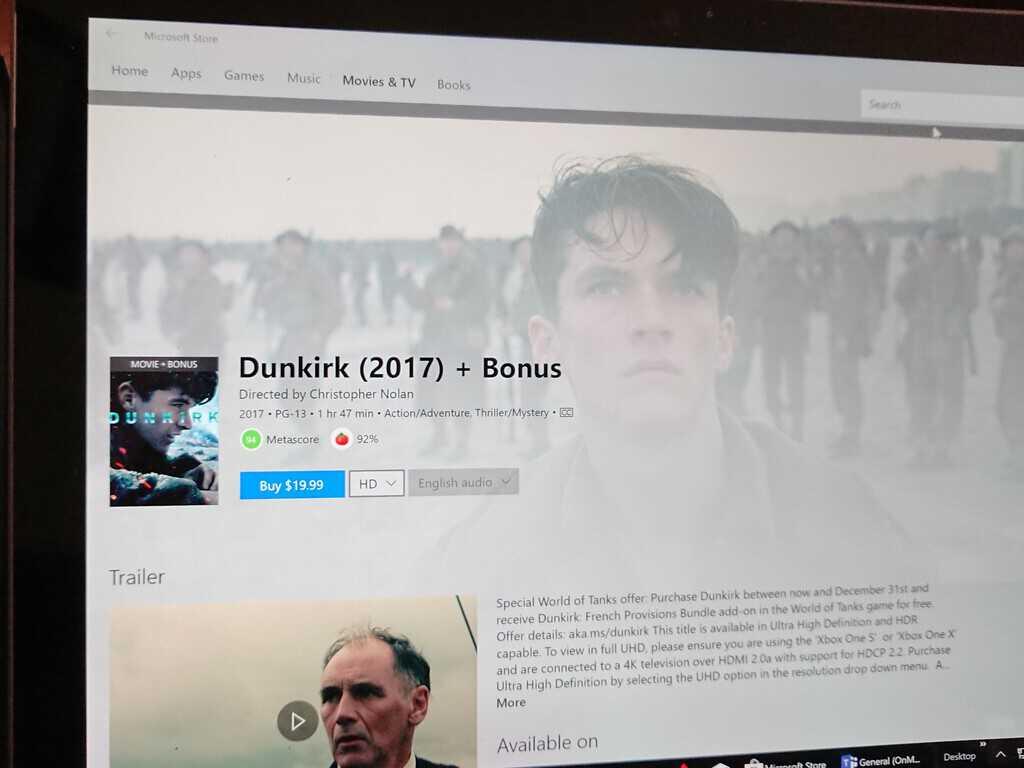 Microsoft, Dunkirk, Microsoft Store