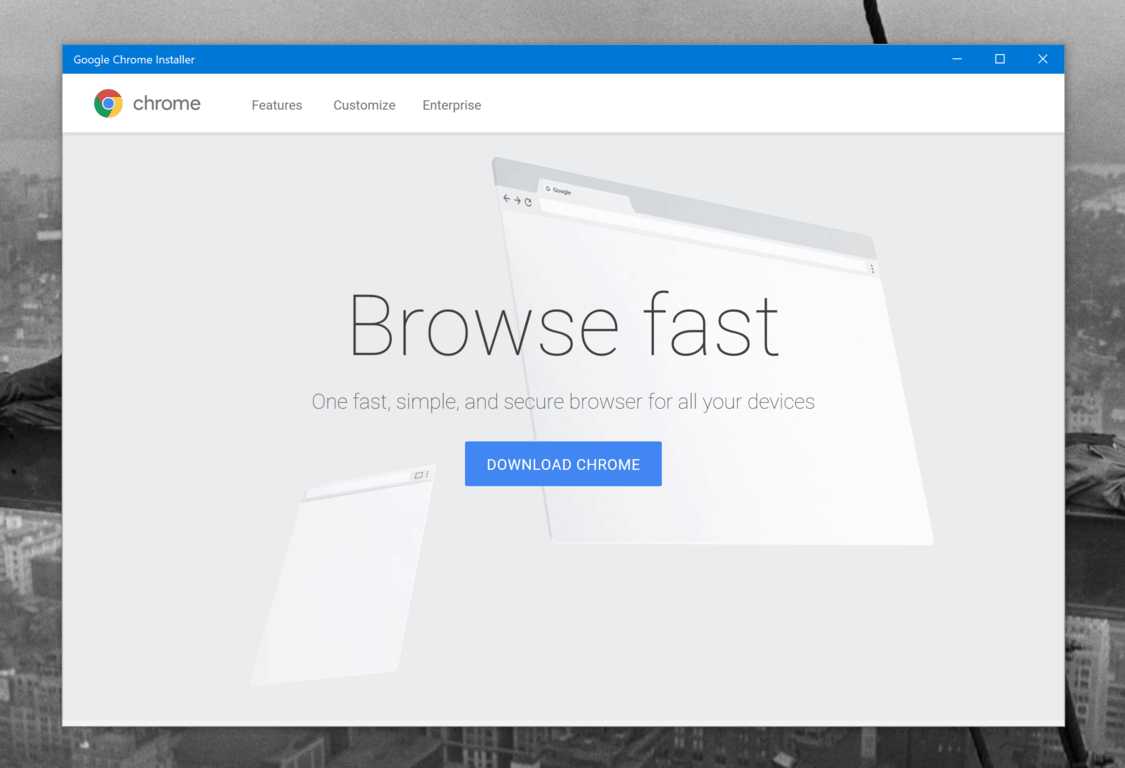 Updated] Google quietly releases Chrome installer app on the Windows