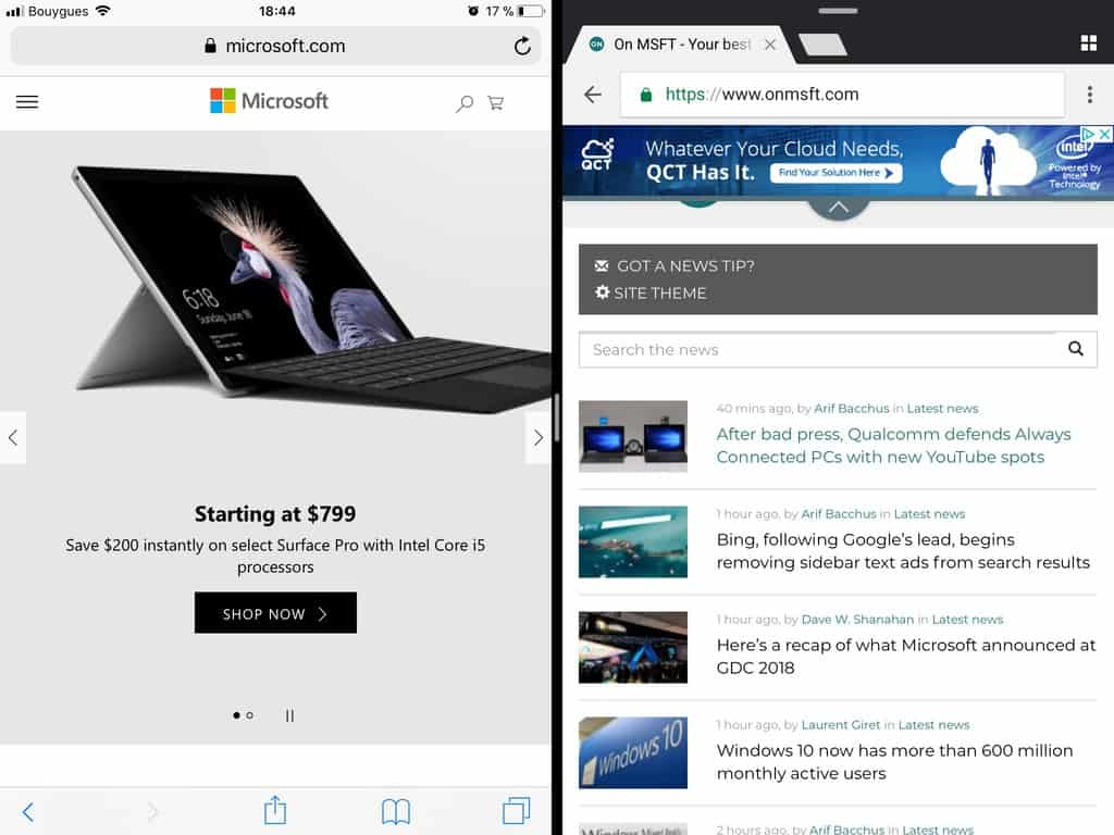 Microsoft Edge is now optimized for iPads and Android