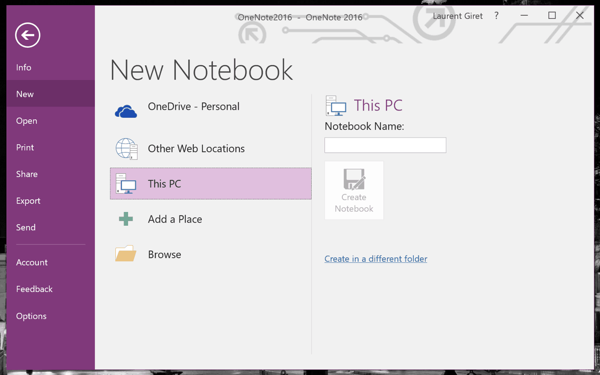 Here's how to move your OneNote 2016 local notebooks to