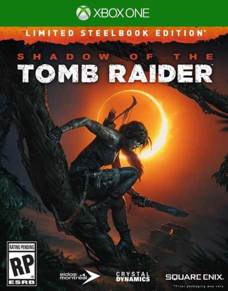 Shadow of the Tomb Raider Xbox One video game cover artwork